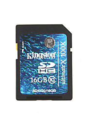 Kingston 16GB 100X / Clase 10 SD/SDHC/SDXCMax Read Speed10MB/sec (MB/S)Max Write Speed10MB/sec (MB/S)
