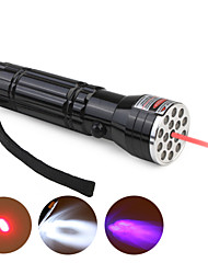 15 LED + 1 Laser + UV Aluminum Flashlight