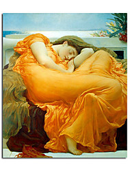 Hand-painted Oil Painting Flaming June by Frederic Leighton with Stretched Frame