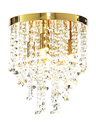 Modern Crystal Semi Flush Mount with 4 Lights (G9 Bulb Base)
