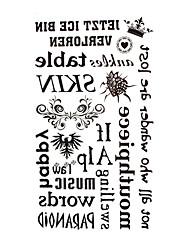 5 pièces mots anglais tattoo imperméables temporaires (17.5cm * 10cm)