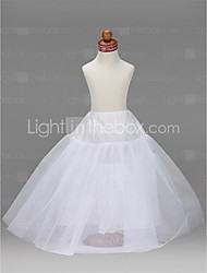 Slips A-Line Slip Ball Gown Slip Floor-length 3 Tulle Netting Taffeta White Ivory