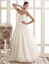 lanting novia una línea / princesa pequeña / más el tamaño de la boda del vestido de barrido / cepillo tren