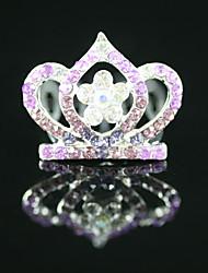 superbe cz zircon mariage fille fleur tiare plusieurs couleurs disponibles