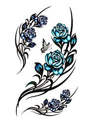 5 pièces a augmenté imperméables tatouage temporaire (17.5cm * 10cm)