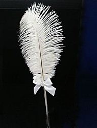 Ostrich Feather Wedding Pen (More Colors) Sign In Book
