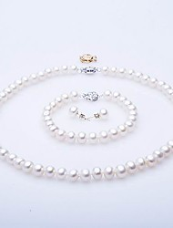 AA Freshwater Pearl Jewelry Set – Necklace, Bracelet & Earrings