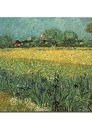 pintados à mão pintura a óleo por Vincent van Gogh com moldura esticada