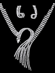 Gorgeous Cubic Zirconia Wedding Bridal Jewelry Set Including Necklace And Earrings
