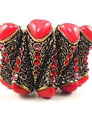 pulseras de señoras rhinestone y puños / personalizado en aleación de oro