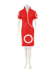 Inspired by Naruto Sakura Haruno Anime Cosplay Costumes Cosplay Suits / Dresses Print Red Short Sleeve Cheongsam / Shorts