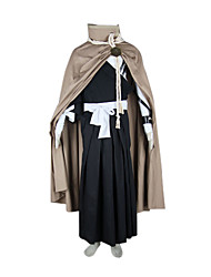 Inspired by Cosplay Cosplay Anime Cosplay Costumes Cosplay Suits Kimono Patchwork Black Long SleeveCloak Kimono Coat Top Hakama pants