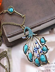 Women's Turquoise Peacock Necklace