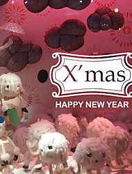 Christmas Decoration Wall Stickers Holiday Ornaments Happy New Year