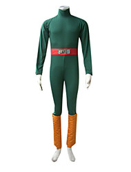 Inspired by Naruto Rock Lee Anime Cosplay Costumes Cosplay Suits Patchwork Green Long Sleeve Leotard / Belt / Leg Warmers