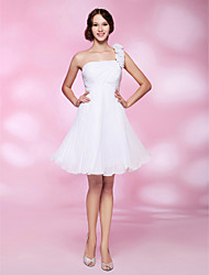 Cocktail Party / Graduation / Homecoming / Wedding Party Dress - White Plus Sizes / Petite A-line / Princess One Shoulder Knee-length