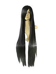 Cosplay Wigs K-ON Mio Akiyama Black Long Anime Cosplay Wigs 100 CM Heat Resistant Fiber Female