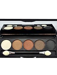 5 colores paleta de sombra de maquillaje de ojos con un pincel libre