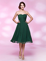 TS Couture® Cocktail Party / Holiday / Wedding Party Dress - Dark Green Plus Sizes / Petite A-line / Princess Strapless / Sweetheart Knee-length