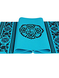 serindia estilo eco-friendly antiderrapante pvc yoga pilates mat (6mm)