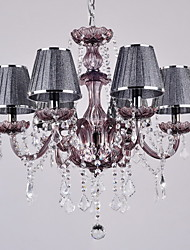 Black Crystal Chandelier with 6 Lights