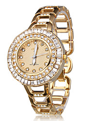 Golden Jewel Case Fashion Women's Wrist Watch