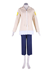 Inspired by Naruto Hinata Hyuga Anime Cosplay Costumes Cosplay Suits Patchwork Blue / Brown Long Sleeve Coat / Pants