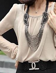 Frauen mehrschichtige handgenähten Perlenkette