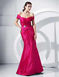 Mermaid / Trumpet Off-the-shoulder Floor Length Taffeta Prom Dress with Crystal by TS Couture®