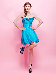 Cocktail Party/Sweet 16/Holiday Dress - Pool A-line/Princess Strapless Short/Mini Taffeta