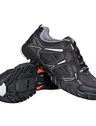 ciclismo mtb spd sapatos e sapatos casuais com couro e malha respirável cowsuede superior