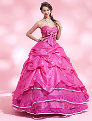 A-line Sweetheart Floor-length Satin Organza Evening/Prom Dress