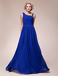 Lanting A-line Plus Sizes / Petite Mother of the Bride Dress - Royal Blue Floor-length Sleeveless Chiffon