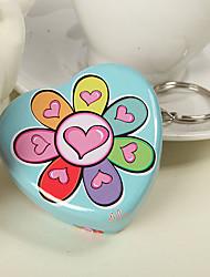 в форме сердца, цветочный дизайн мяты олово (набор из 6)