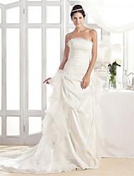 lanting Braut a-line / Prinzessin petite / Übergrößen-Hochzeitskleid-Gerichtszug
