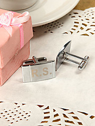 Gift Groomsman Personalized Simple Design Cufflinks