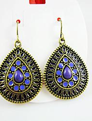Bohemian Teardrop Bronze Earrings