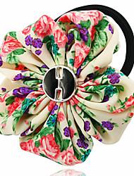 Chiffon Floral Bow Hair Tie