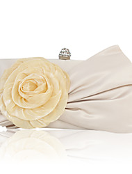 Women Silk Wedding Evening Bag Beige