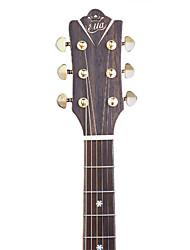 """ella 41 """"d'origine solide citka épinette face supérieure en acajou massif et dos bois guitare acoustique de liaison maître de grade"""