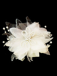 Women's Satin / Imitation Pearl Headpiece-Wedding / Special Occasion Fascinators / Flowers