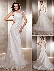 Lanting Bride® Trumpet / Mermaid Petite / Plus Sizes Wedding Dress - Classic & Timeless / Elegant & Luxurious Vintage InspiredSweep /