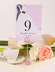 Personalized Table Number Card – Sweet Love (Set of 10)