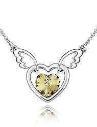 De 45 cm voando coração colar de cristal austríaco