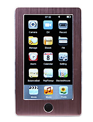 mp5 jogador com 4,3 touch screen inche + 4gb