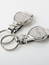 Personalized Classic Heart Key Ring (Set of 4)