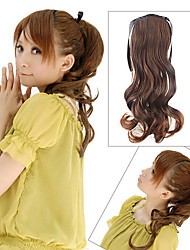 17 Inch Laceup Synthetic Curly Ponytail 3 Colors Available