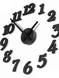"""12 """"numeri fai da te orologio da parete moda analogico (nero, 1xAA)"""