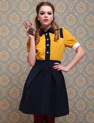 TS Vintage Style Multi-Color Dress
