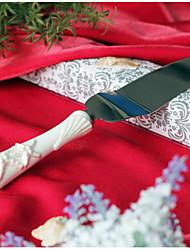 обслуживающие наборы свадебный торт нож звезды& раковины ручки в изысканном керамической сервере торт